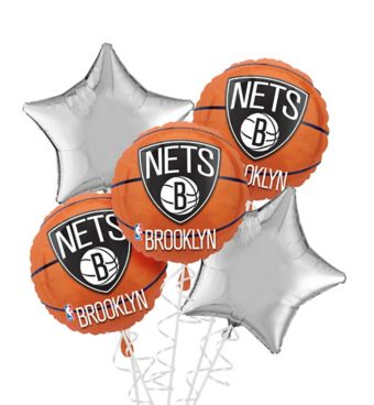 Brooklyn Nets Balloon Bouquet 5pc