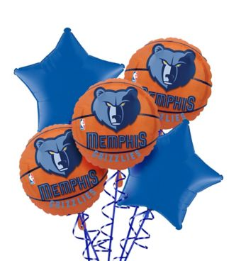Memphis Grizzlies Balloon Bouquet 5pc