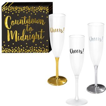 New Year's Champagne Flute Kit for 30 Guests