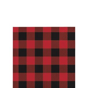 Buffalo Plaid Beverage Napkins 16ct