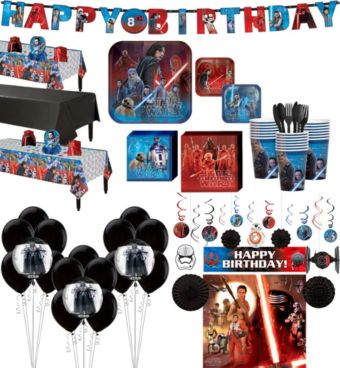Star Wars 8 The Last Jedi Ultimate Party Kit for 24 Guests
