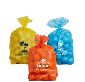 Personalized Small Luau Plastic Treat Bags