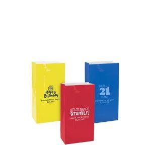 Personalized Mini Milestone Birthday Paper Treat Bags