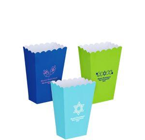 Personalized Mini Hanukkah Popcorn Treat Boxes