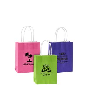 Personalized Small Summer Kraft Bags