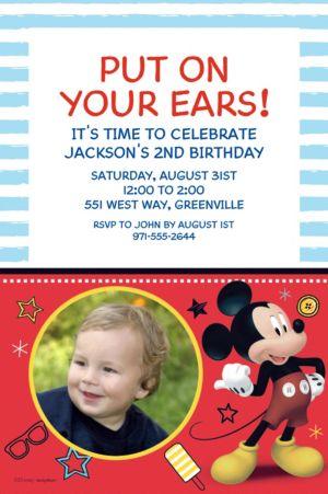 Custom Mickey On The Go Photo Invitation