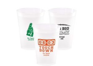 Personalized Football Plastic Shatterproof Cups 12oz
