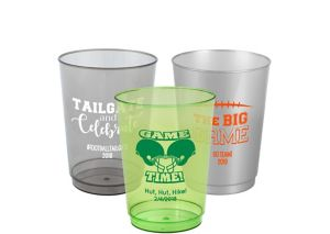 Personalized Football Hard Plastic Cups 10oz