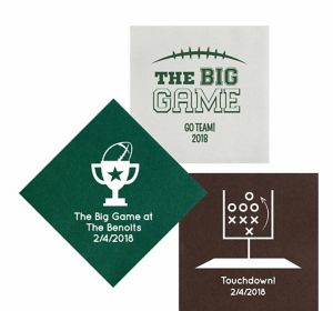 Personalized Football Premium Lunch Napkins
