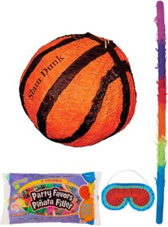 Slam Dunk Basketball Pinata Kit with Candy & Favors