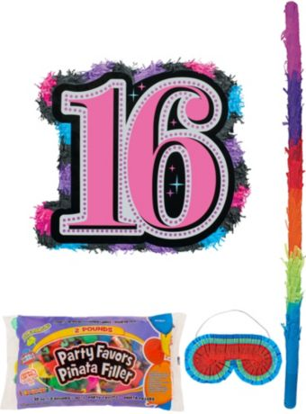 Celebrate Sweet 16 Pinata Kit with Candy & Favors