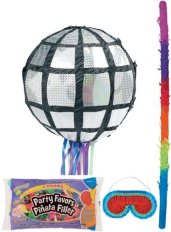 Disco Ball Pinata Kit with Candy & Favors