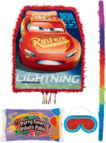 Lightning McQueen Pinata Kit with Candy & Favors - Cars 3