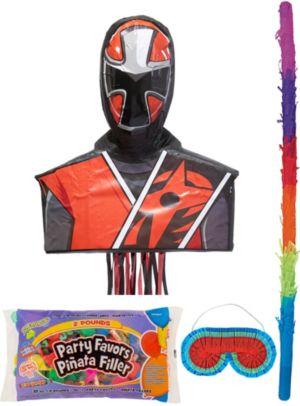 Ninja Steel Red Pinata Kit with Candy & Favors - Power Rangers Ninja Steel