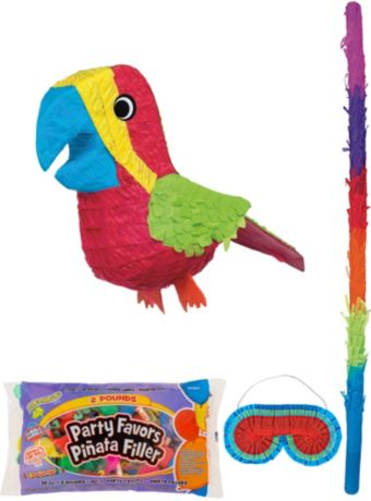 Parrot Pinata Kit with Candy & Favors