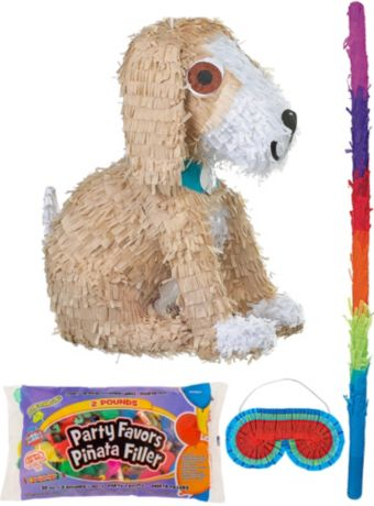 Puppy Pinata Kit with Candy & Favors