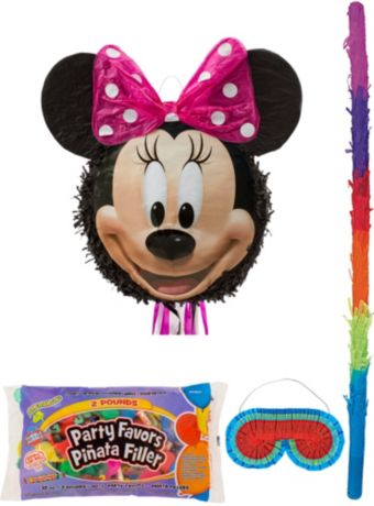 Smiling Minnie Mouse Pinata Kit with Candy & Favors