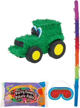 Tractor Pinata Kit with Candy & Favors