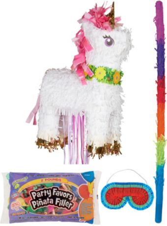 Sparkling Unicorn Pinata Kit with Candy and Favors