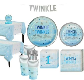 Blue Twinkle Twinkle 32CT Tableware Kit