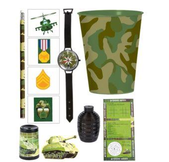 Camouflage Super Favor Kit for 8 Guests