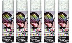Glitter Rainbow Hair Spray 5ct