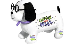 Over the Hill Plush Autograph Dog