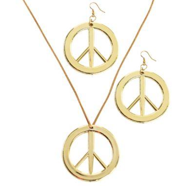 Peace Pendant & Earring Set