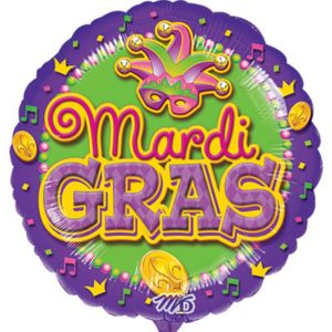 Mardi Gras Balloon - Mask
