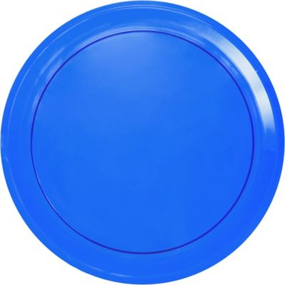 Royal Blue Plastic Swirl Platter