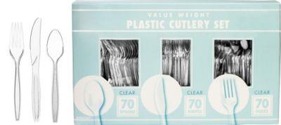 CLEAR Cutlery Set 210pc