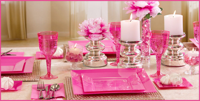 Solid Bright Pink Tableware #2
