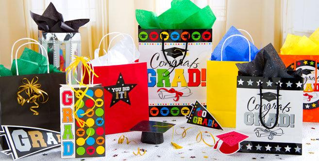 Graduation gift bags wrap party city