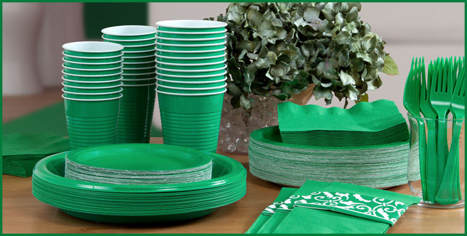 Festive Green tableware #3