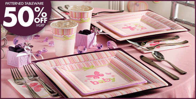 baby shower party supplies party city carter girl baby shower party