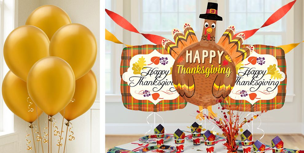 Decorating Ideas > Thanksgiving Balloons  Party City ~ 061918_Thanksgiving Balloon Decorations