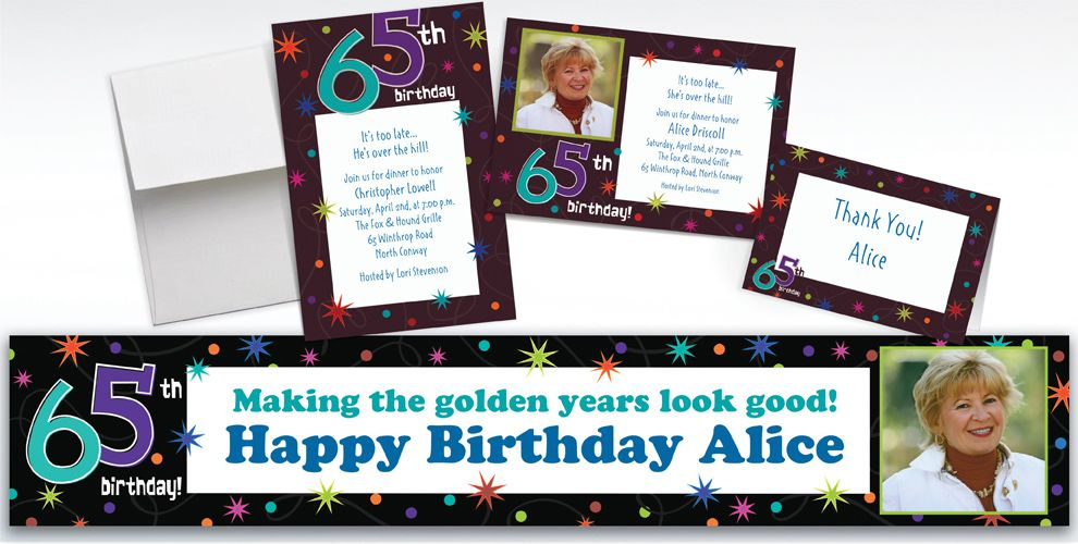 Custom The Party Continues 65th Birthday Invitations Party City – Party City Birthday Invitations