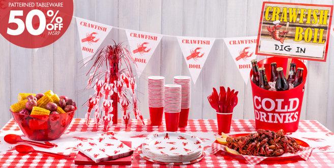 Crawfish Boil Party Supplies Summer Tableware Summer