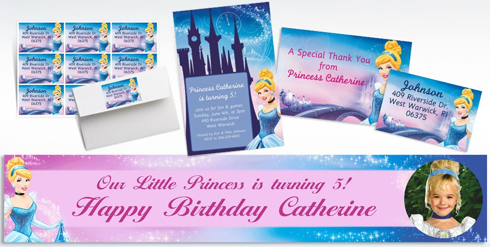 Custom Cinderella Invitations and Thank You Notes