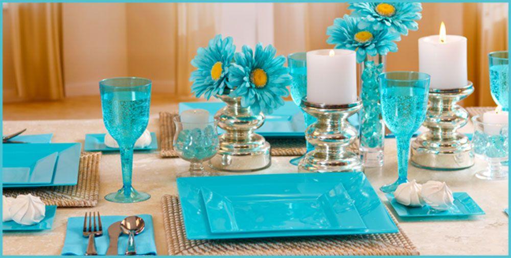 Caribbean Blue Premium Tableware