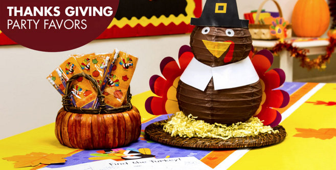 Thanksgiving Party Favors Amp Activities Party City