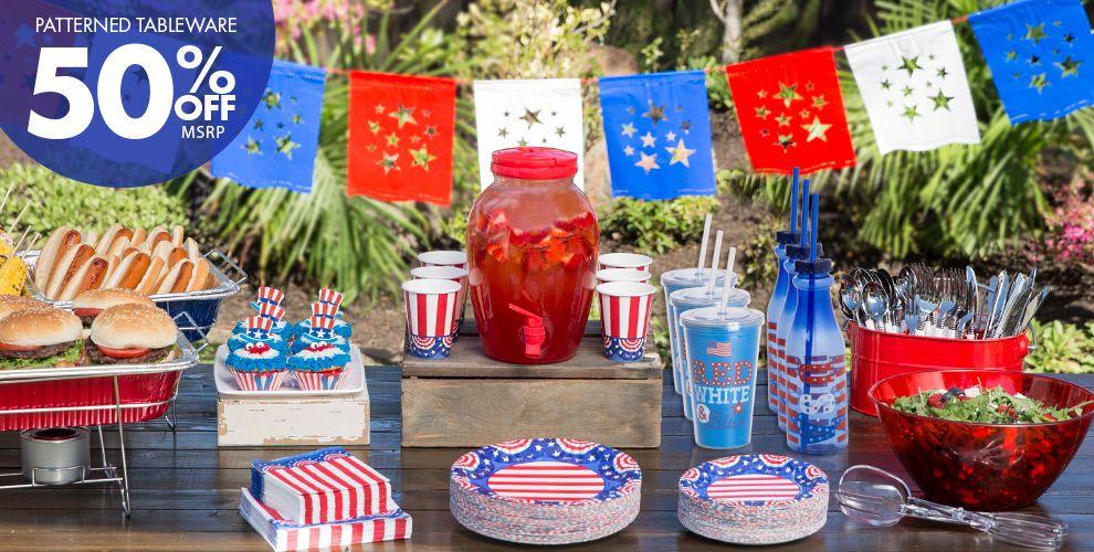 American pride patriotic party supplies party city for American party decoration