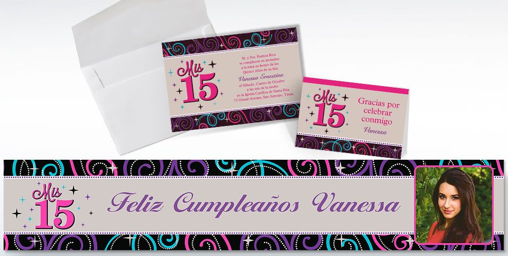 Custom Quinceanera Invitations & Thank You Notes - Party City