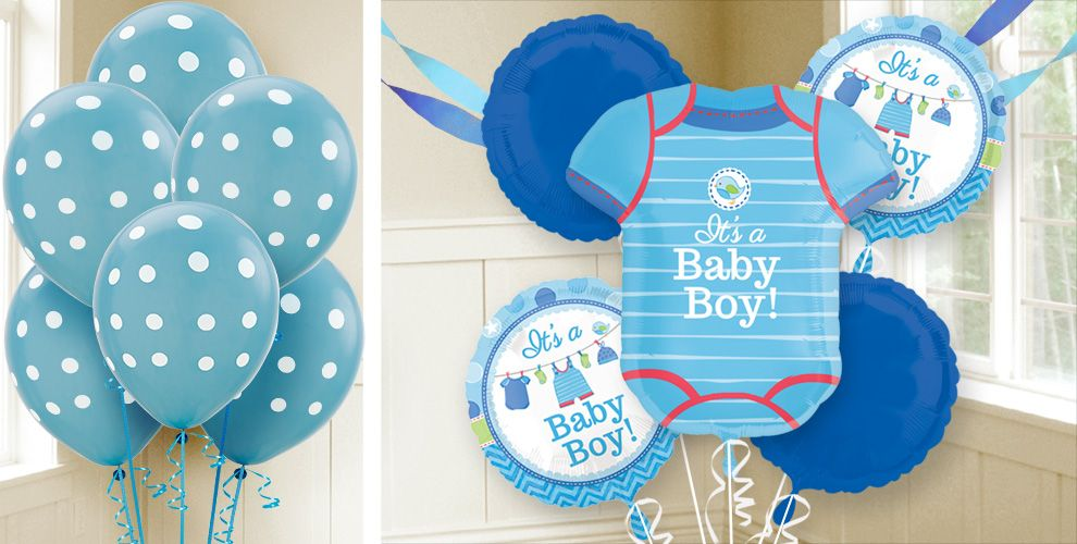 boy baby shower balloons shower with love party city