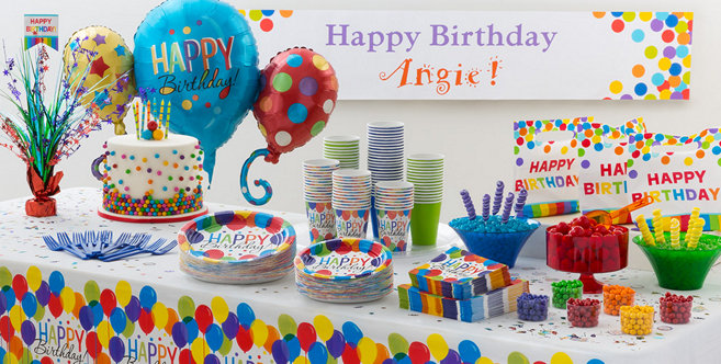 Decorating Ideas > Rainbow Balloon Bash Birthday Party Supplies  Party City ~ 180449_Birthday Party Ideas Quezon City