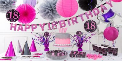 Pink Sparkling Celebration 18th Birthday Party Supplies Party City