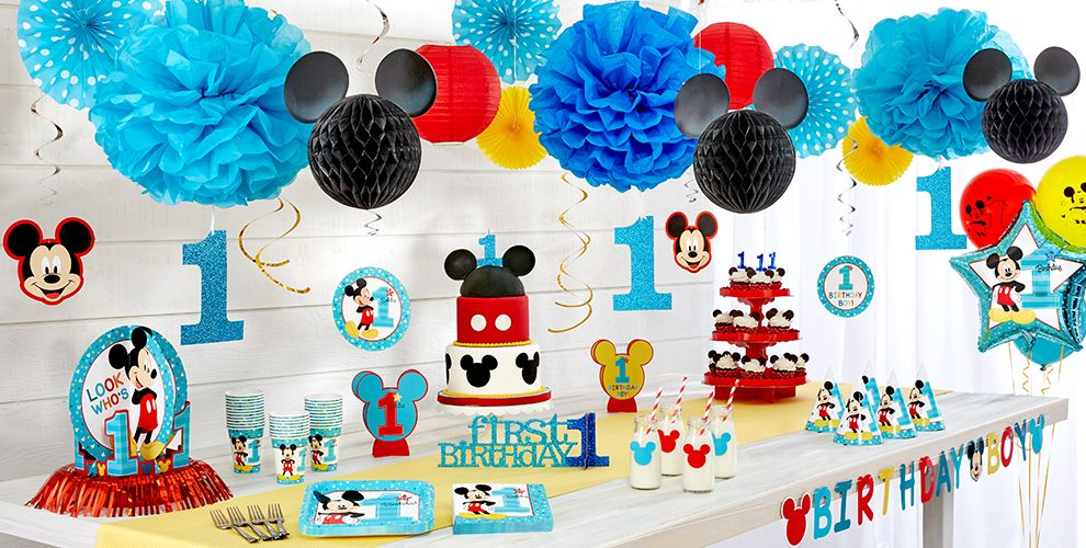 Mickey Mouse 1st Birthday Party Supplies  Party City ~ 191942_Birthday Decorations Ideas For 1St Birthday