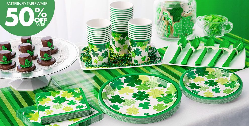 Blooming Shamrock Party Supplies