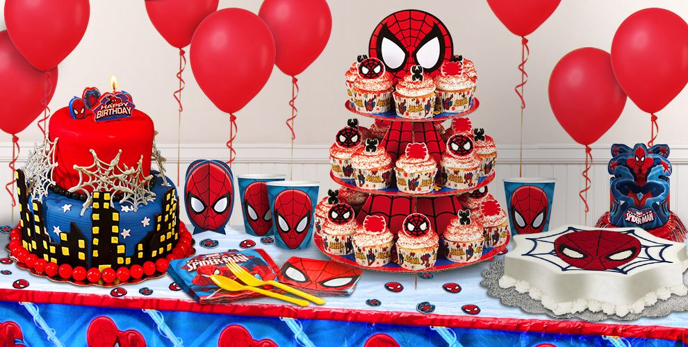 Cake Decorating For Party : Spiderman Cake Supplies - Spiderman Cupcake & Cookie Ideas ...