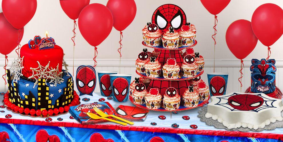 Spider Man Cake Supplies